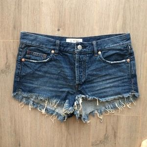 FREE PEOPLE Distressed Soft Relaxed Cutoff Shorts